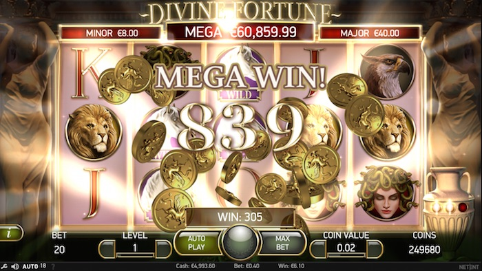 Screenshot Divine Fortune Mega Win