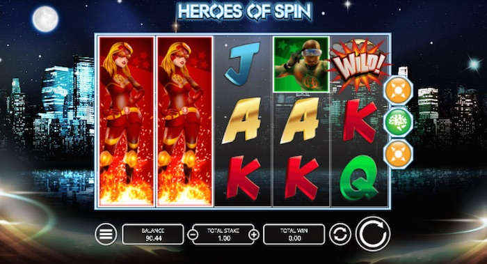 Heroes of Spin Online Slot Graphics Screenshot