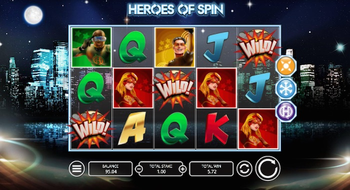 Online Slot Heros of Spin Wild Feature