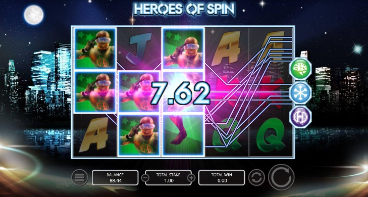 Screenshot of Heroes of Spin Slot Game