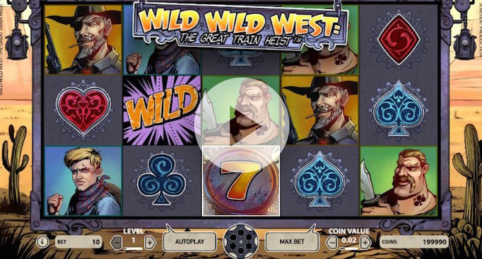 Net Entertainment Wild Wild West Slot Gameplay Screenshot