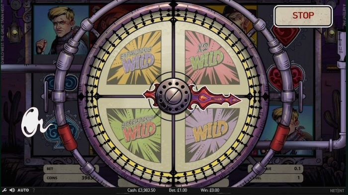 Wild Selector Wheel Feature in Wild Wild West Online Slot