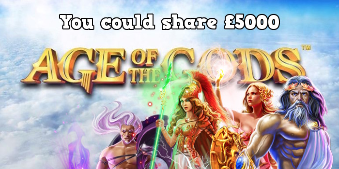 Play Age of the Gods Slots at Betfred Casino to share £5000