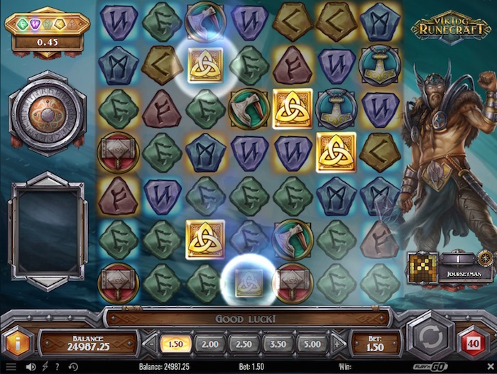 Screenshot of Viking Runecraft Online Slot