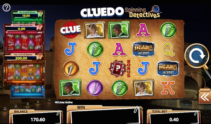 Cluedo Spinning Detectives Slot Deposit 163 20 Collect 163 20
