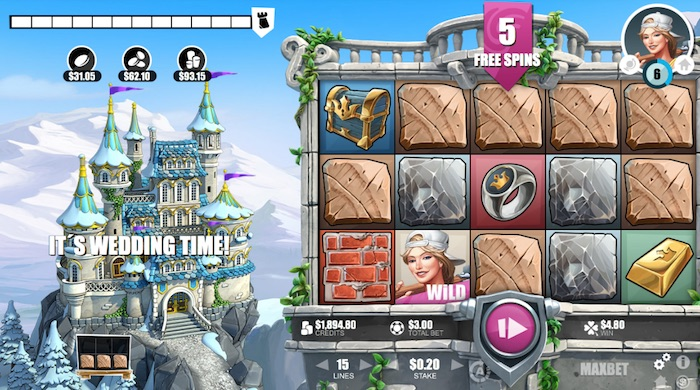 Screenshot of Castle Builder 2 Online Slot