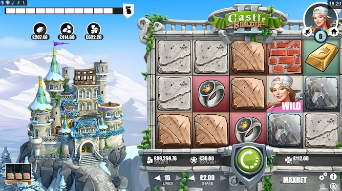 Rabcat Castle Builder II Slot Screenshot