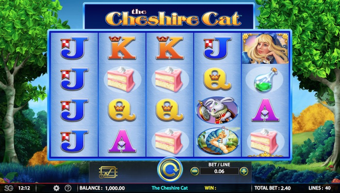 Screenshot of Cheshire Cat Online Slot