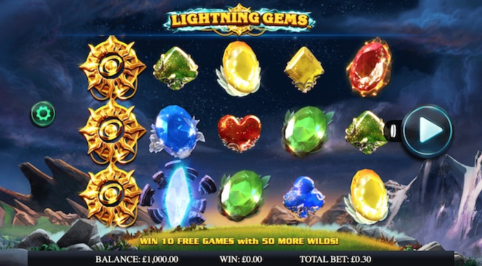 NextGen Gaming Lightning Gems Slot Screenshot