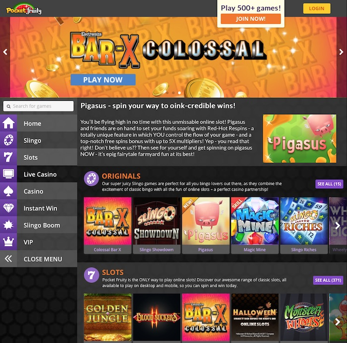 UK review of pocket fruity slots site