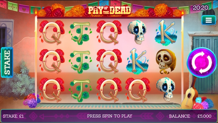 Pay of the Dead mobile slot slingo originals