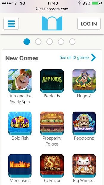 Games and New Slots at CasinoRoom
