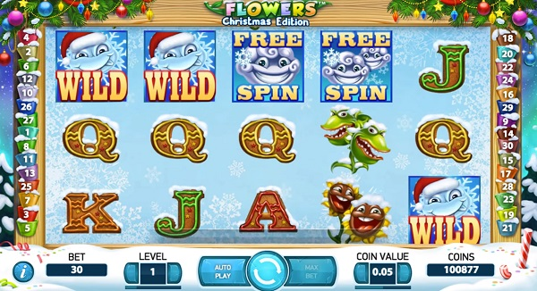 Flowers Touch Christmas Edition Mobile Slot Free Play Mode