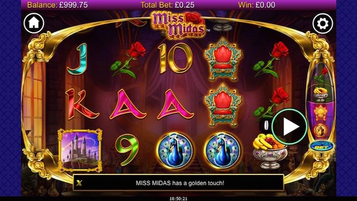 Miss Midas Slot Screenshot on iPhone