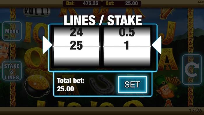 Shamrock n Roll Slot Betting Limits