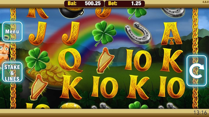 Screenshot of Shamrock n Roll Mobile Slot from Nektan