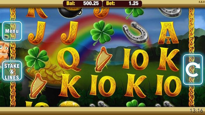 Screenshot of Shamrock n Roll Mobile Slot from Nektan