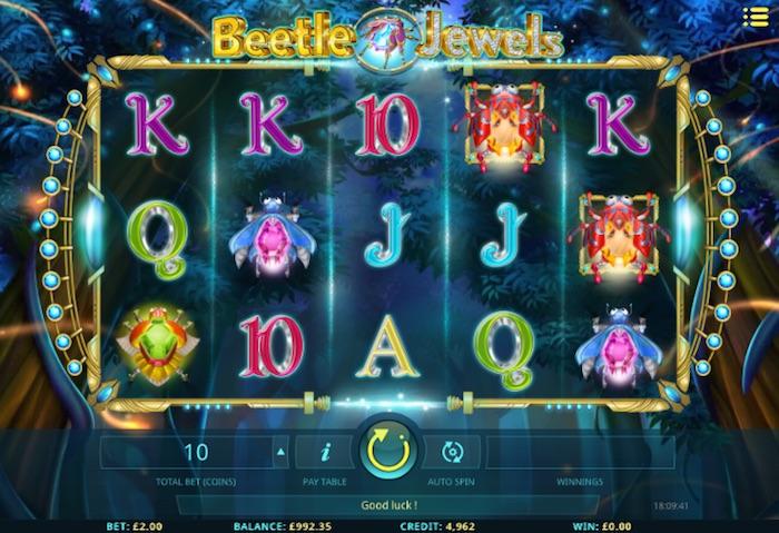 Screenshot of Beetle Jewels Online Slot