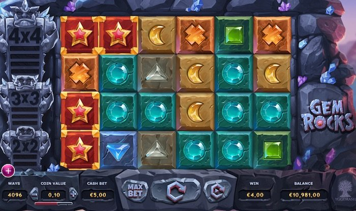 Screenshot of Gem Rocks Online Slot