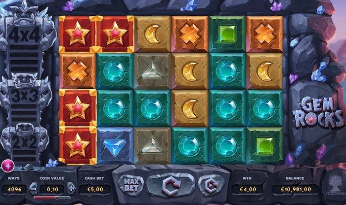 Screenshot of Gem Rocks Online Slot