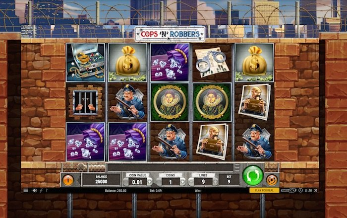 Screenshot of Cops and Robbers Online Slot