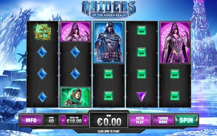 Screenshot of Raiders of the Hidden Realm Online Slot