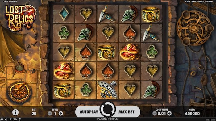 Screenshot of Lost Relics Online Slot