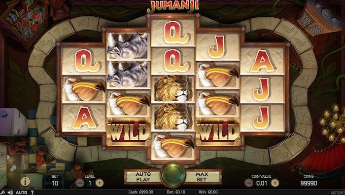 Screenshot of Jumanji Online Slot