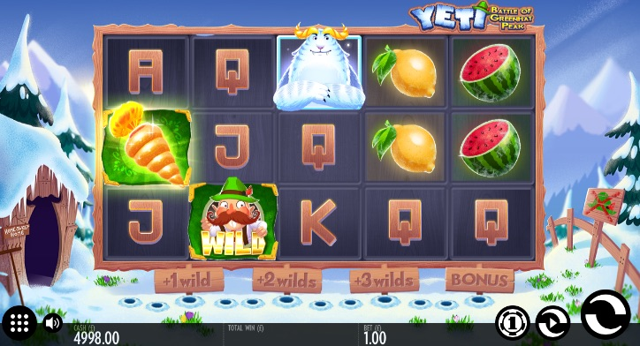 Screenshot of Yeti: Battle of Greenhat Peak Online Slot