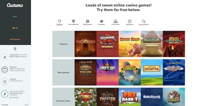 Online Slots at Casumo