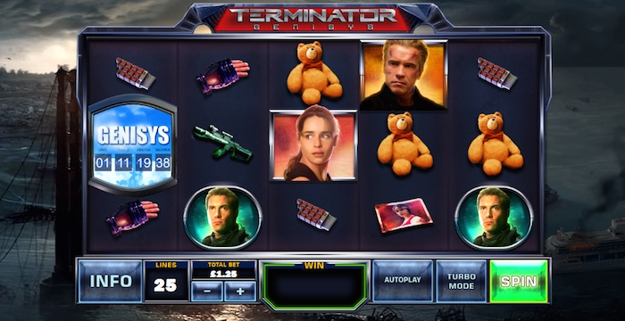 Screenshot of Terminator Genisys Slot Review Online Slot
