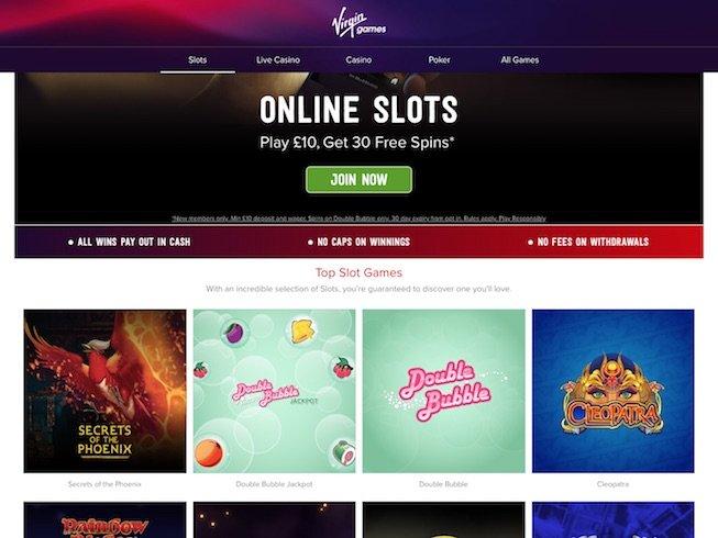 Virgin Games Casino Screenshot