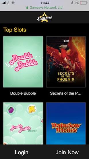 Top mobile slots at Starspins.com