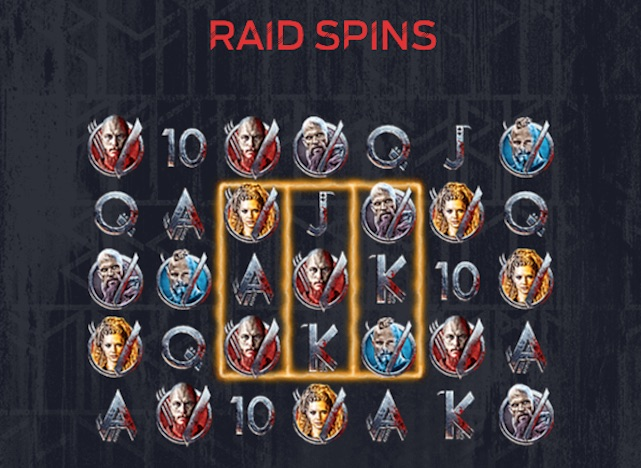 Raid Spins Feature Screenshot from Vikings Pay Table