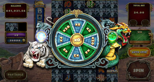 Tiger and Dragon includes a Roulette Mini-Game Bonus