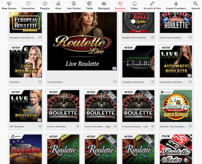 Online roulette bonuses at Casimba Casino can be used on various games including VIP Roulette