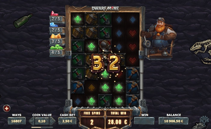 Dwarf Mine Online Slot Free Spins
