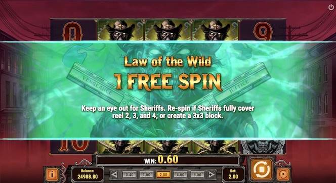 Golden Colts features seven bonus games including Law of the Wild