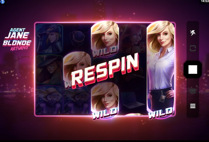 Reel Re-spins uses Sticky Wilds and is the slots only bonus feature