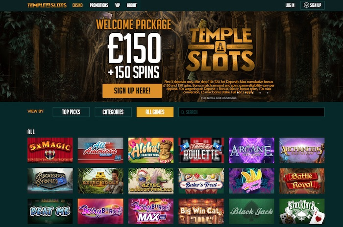 Templeslots.com Screenshots