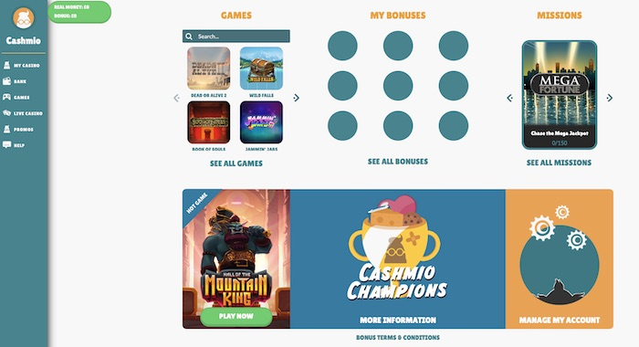 Cashmio review home screenshot
