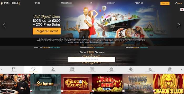 Casinocruise.com review home screenshot