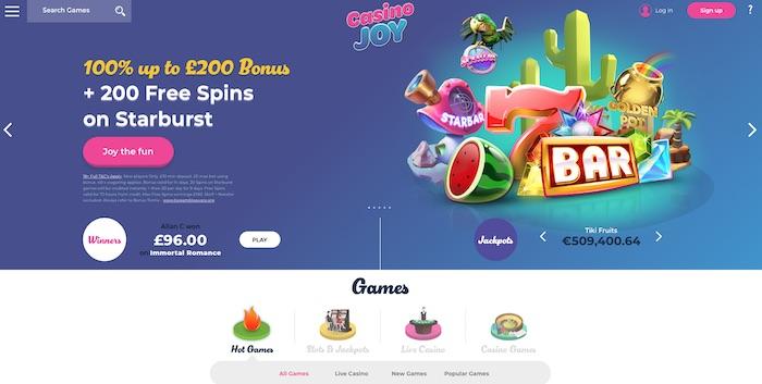 Casinojoy.com review screenshot