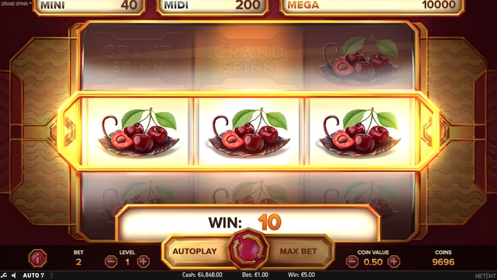 Grand Spinn Slot Features Include Multiplier Wild and Nudges