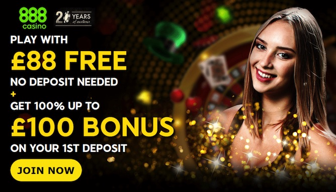 Get £88 free slots games and casino at 888