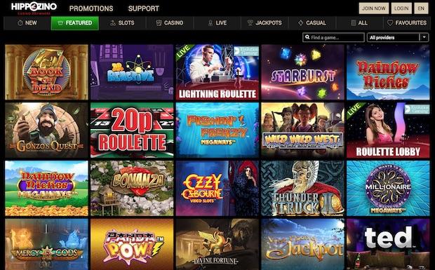 Hippozino Casino review 2020 screenshot