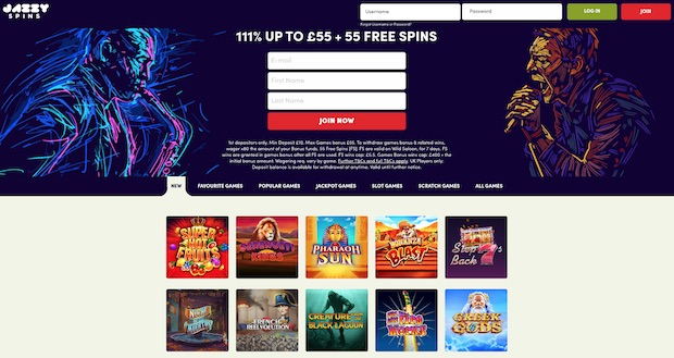Jazzy Spins Casino Review 2020 Screenshot