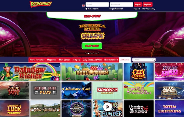 Kerching UK Casino Review 2020 Screenshot
