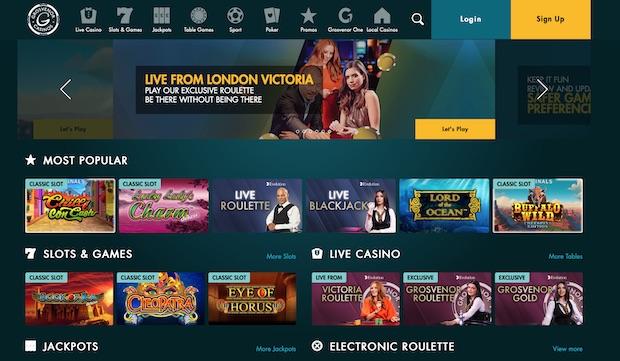Grosvenor Online Casino Review Screenshot