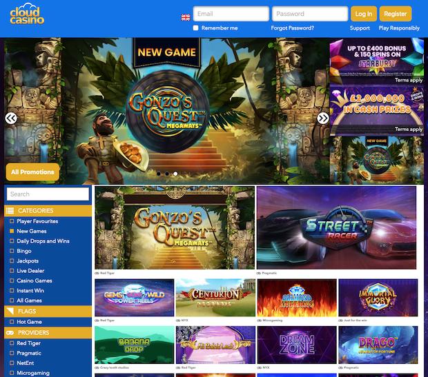 Cloud Casino Review and Bonus Code 2020
